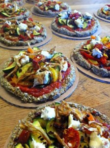 raw pizzas